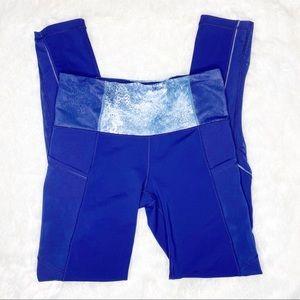Lululemon Ivivva Girls Blue Leggings